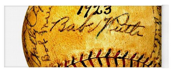 Babe Ruth New York Yankees 1923 Team Autographed Baseball Yoga Mat