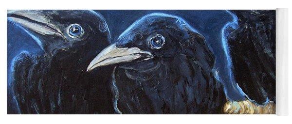 Baby Crows Yoga Mat