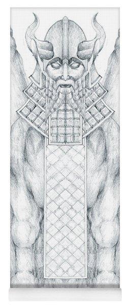 Babylonian Sphinx Lamassu Yoga Mat