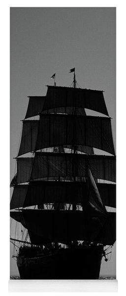 Back Lit Tall Ship Yoga Mat
