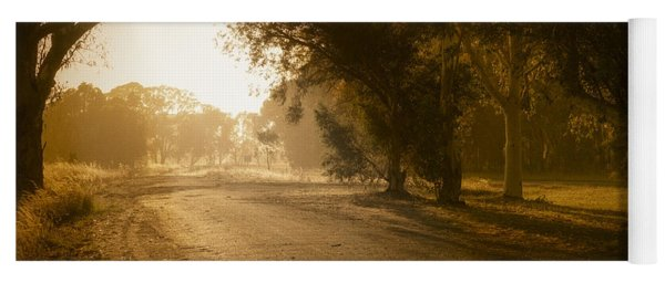 Yoga Mat featuring the photograph Back Road Morning by Ray Warren