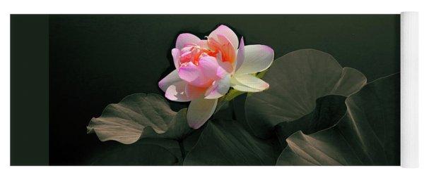 Backlit Lotus Yoga Mat
