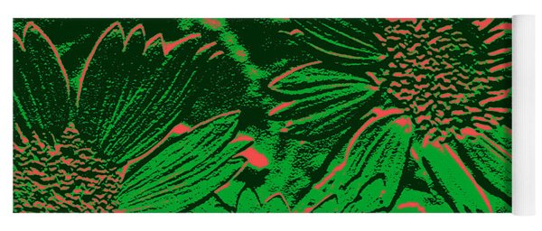 Abstract Flowers 1 Yoga Mat