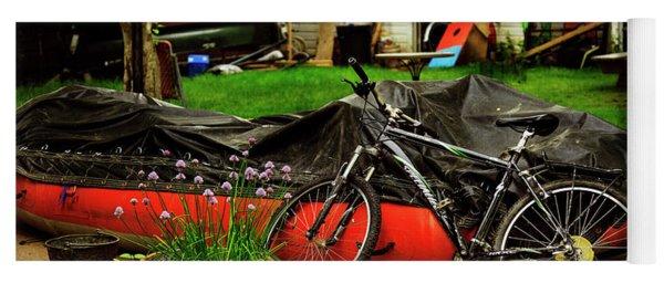 Backyard Neighborhood Bicycle Yoga Mat