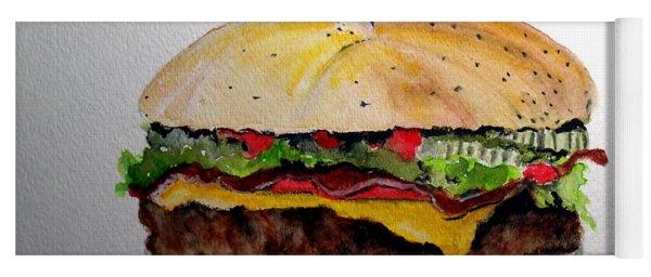 Bacon Cheeseburger Yoga Mat