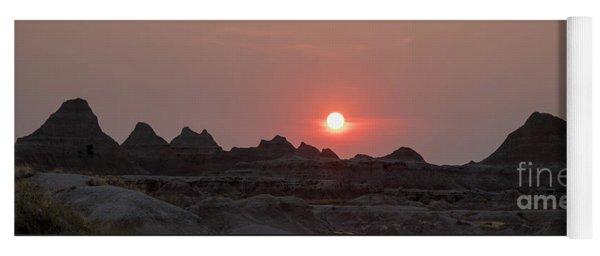 Badlands Sunset Yoga Mat