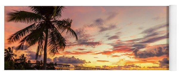 Bahia Honda State Park Sunset Yoga Mat