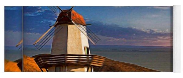 Baker City Windmill_1a Yoga Mat