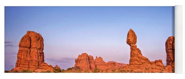 Balanced Rock, Arches National Park Yoga Mat