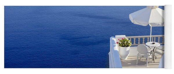 Balcony Over The Sea Yoga Mat