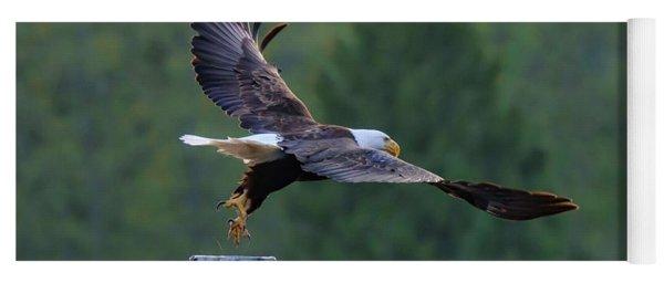 Bald Eagle Jumps Off The Dock Yoga Mat