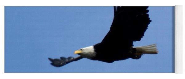 Bald Eagle Soaring High Yoga Mat