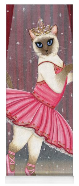 Ballerina Cat - Dancing Siamese Cat Yoga Mat