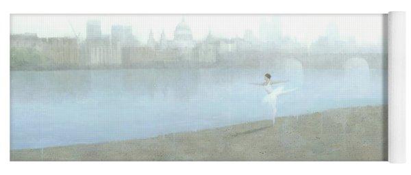 Ballerina On The Thames Yoga Mat