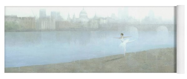 Ballerina On The Thames Yoga Mat