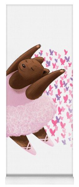 Ballet Bear Yoga Mat