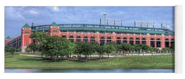 Ballpark In Arlington Now Globe Life Park Yoga Mat