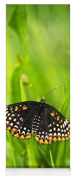 Baltimore Checkerspot Butterfly Yoga Mat
