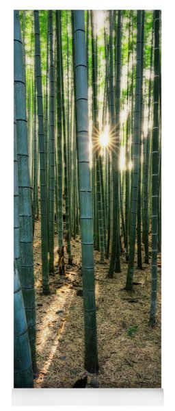 Bamboo Forest At Arashiyama Yoga Mat