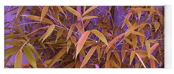 Bamboo Leaves In Spiced Pumpkin Yoga Mat