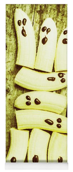 Bananas With Painted Chocolate Faces Yoga Mat