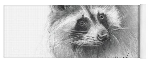 Bandit The Raccoon Yoga Mat