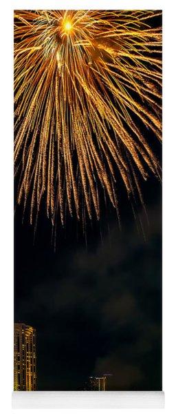 Bangkok Fireworks Yoga Mat