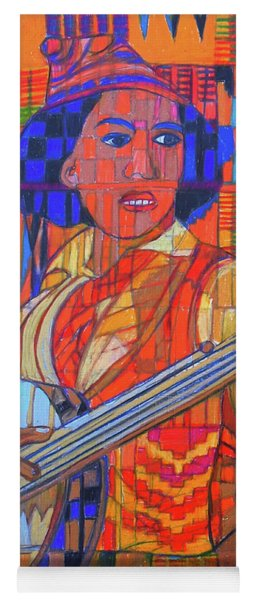 Yoga Mat featuring the painting Banjo-five Strings by Denise Weaver Ross