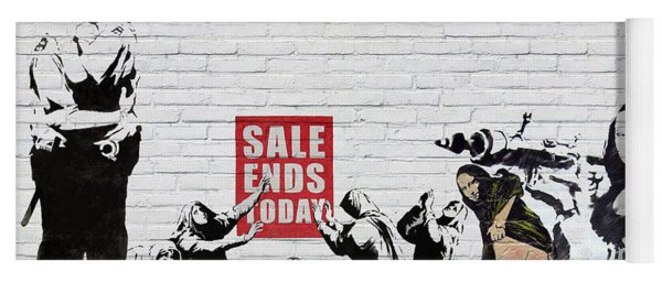 Banksy - Saints And Sinners   Yoga Mat
