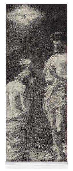 Baptism Of Christ  Illustration For The Gospel According To Saint Matthew  Yoga Mat
