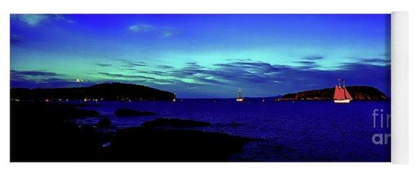 Bar Harbor, Maine Sunset Cruse  Yoga Mat