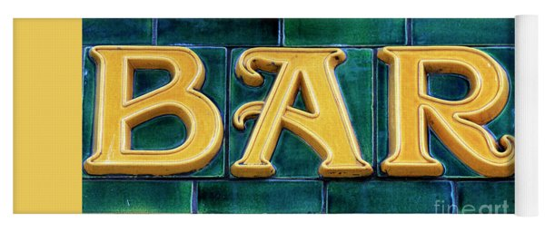 Bar Sign Yoga Mat