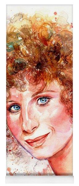 Barbra Streisand Portrait Yoga Mat