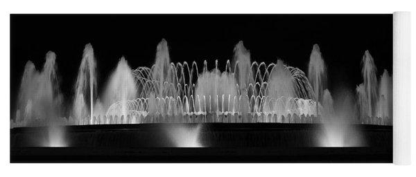 Barcelona Fountain Nightlights Yoga Mat