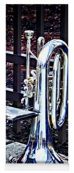 Baritone Horn Before Parade Yoga Mat