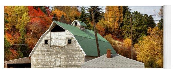 Barn Along The South Fork Yoga Mat