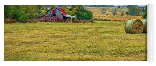 Barn And Field Yoga Mat