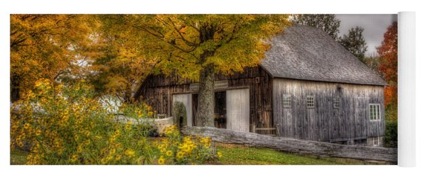 Barn In Autumn Yoga Mat