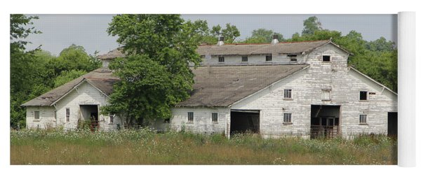 Yoga Mat featuring the photograph Barn In The Field 948 by Ericamaxine Price