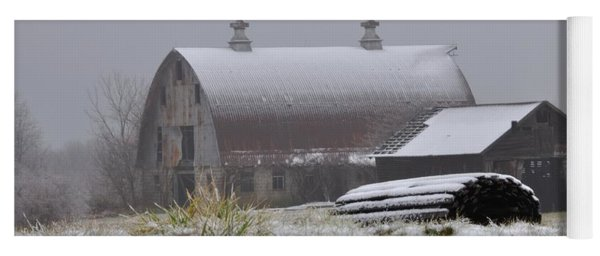 Barn In Winter Yoga Mat