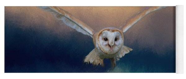 Barn Owl In Flight Yoga Mat