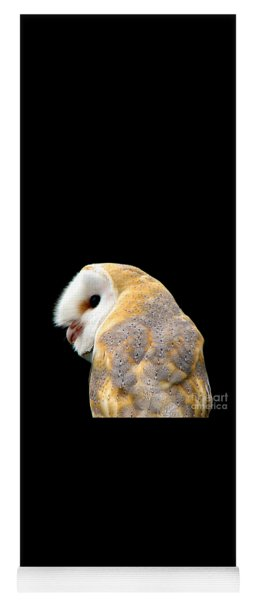 Yoga Mat featuring the photograph Barn Owl by Rose Santuci-Sofranko