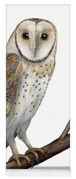 Barn Owl Screech Owl Tyto Alba - Effraie Des Clochers- Lechuza Comun- Tornuggla - Nationalpark Eifel Yoga Mat