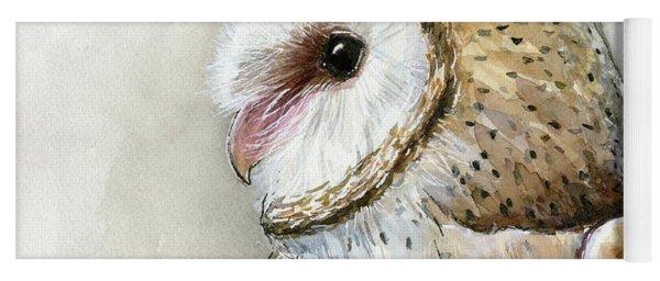 Barn Owl Watercolor Yoga Mat