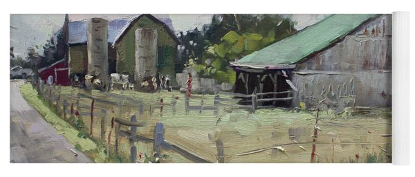 Barns And Old Shack In Norval Yoga Mat