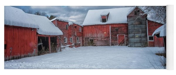 Barns In Winter II Yoga Mat