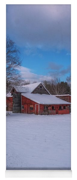 Barns In Winter Yoga Mat