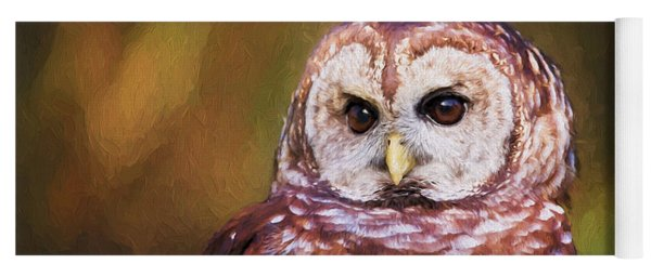 Barred Owl Portrait Yoga Mat