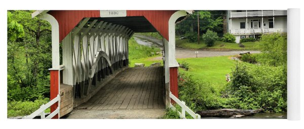 Barronvale Covered Bridge Landcape Yoga Mat