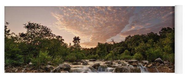 Barton Creek Greenbelt At Sunset Yoga Mat